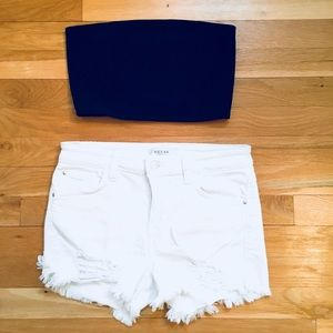 American Apparel Ottoman Ribbed Tube Top Size M